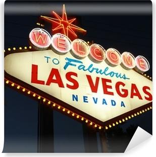 Vinyl Fotobehang Welcome To Las Vegas neon teken 's nachts