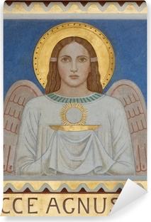 Vinyl Fotobehang Wenen - Fresco van symbolische engel met de Eucharistie
