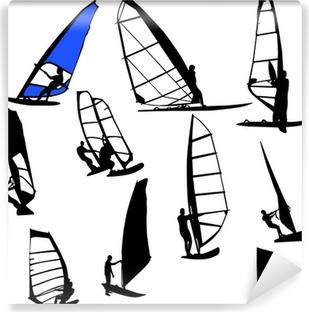 Vinyl Fotobehang Windsurfen vector