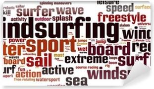 Vinyl Fotobehang Windsurfen word cloud concept. vector illustratie