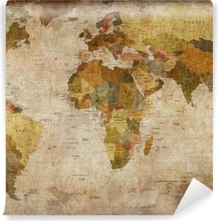 Vinyl Fotobehang World map