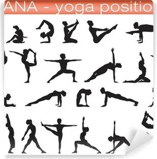 Vinyl Fotobehang Yogahoudingen
