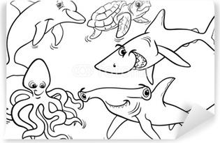 Canvas Zee Leven Vissen En Andere Dieren Kleurplaat Pixers We