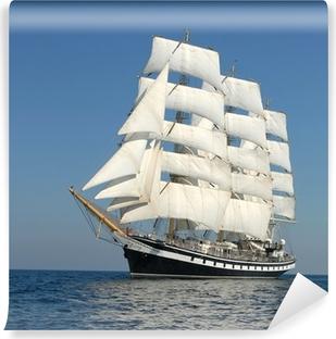 Vinyl Fotobehang Zeilschip. reeks van schepen en jachten