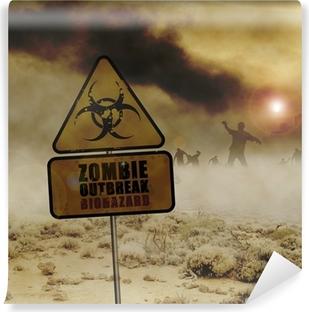 Vinyl Fotobehang Zombies woestijn teken