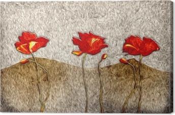 Abstrakt blomsteroliemaleri Fotolærred