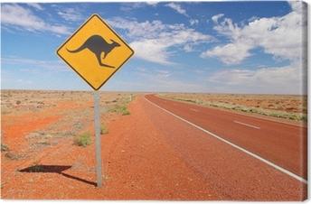 Australske endeløse veje Fotolærred