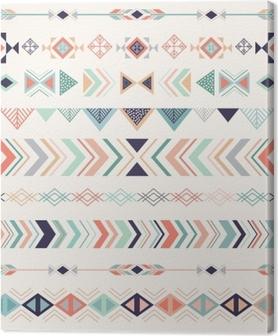 Aztec mønster. sømløs mønster med geometriske elementer. Fotolærred