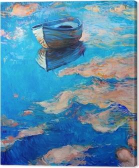 Båd ved havet Fotolærred