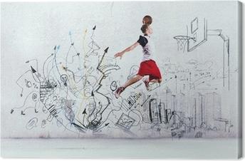Basketballspiller Fotolærred