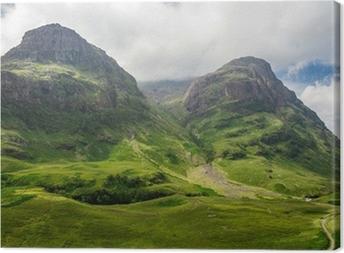 Bjergudsigt i Skotland i Glencoe Fotolærred