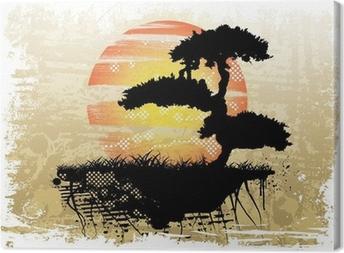 Bonsai baggrund Fotolærred