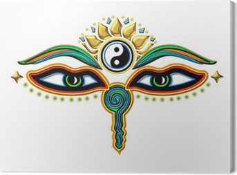 Buddha Augen Yin Yang Fotolærred