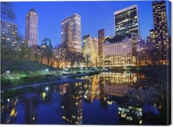 Central Park om natten i New York City Fotolærred