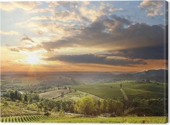 Chianti vingård landskab i Toscana, Italien Fotolærred