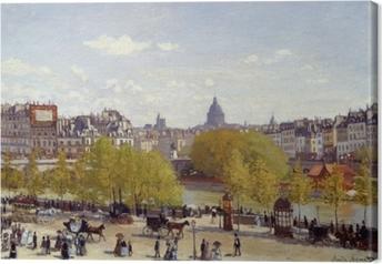 Claude Monet - Quai du Louvre Fotolærred