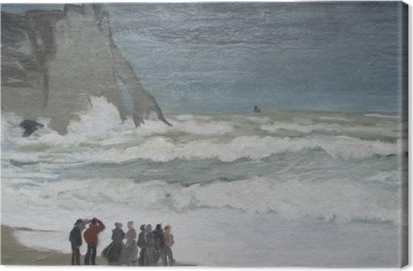 Claude Monet - Rough Hav på Etretat Fotolærred -