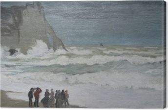 Claude Monet - Rough Hav på Etretat Fotolærred