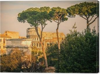 Colosseum ved solnedgang Fotolærred