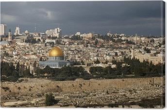 Den hellige by Jerusalem fra Israel Fotolærred