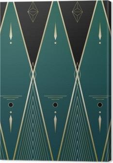Diamonds Art Deco Baggrund Fotolærred
