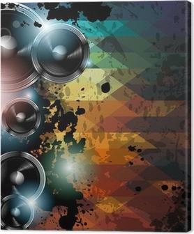 Disco club flyer skabelon. Abstrakt baggrund at bruge til musik Fotolærred