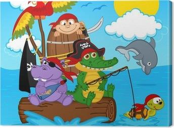 Dyr pirater - vektor illustration, eps Fotolærred