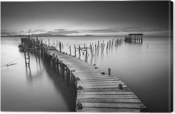 En fredelig gammel havn Fotolærred - Landskaber