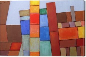 En malet abstrakt collage Fotolærred