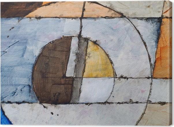 Et abstrakt maleri Fotolærred - Livsstil