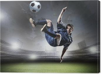 Fodboldspiller Fotolærred