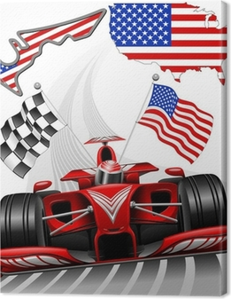 Formel 1 Race Car GP Austin USA Fotolærred