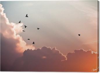 Fugle over skyerne Fotolærred