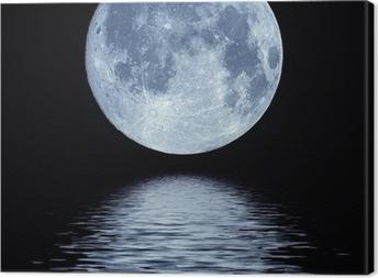 Full Moon over vand Fotolærred