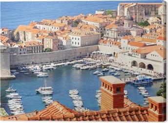 Gamlebyen Dubrovnik og lystbådehavnen Fotolærred