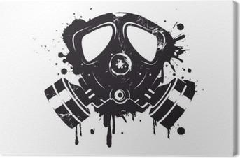 Gasmaske Graffiti Fotolærred