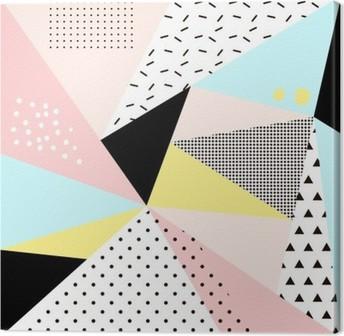 Geometrisk memphis background.Retro design til invitation, visitkort, plakat eller banner. Fotolærred