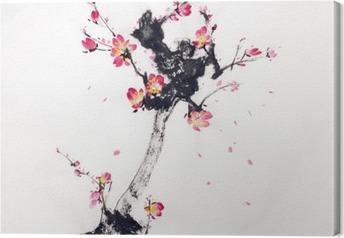 Gren af kirsebærblomster Fotolærred