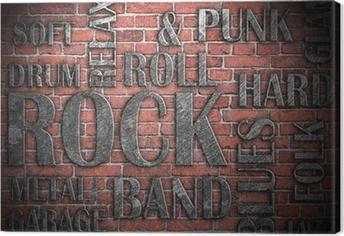 Grunge rockmusik plakat Fotolærred