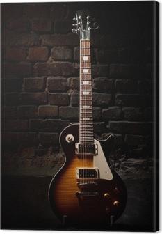 Guitar elektrisk Fotolærred