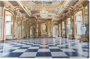 Hall of Ambassadors i Queluz National Palace, Portugal Fotolærred