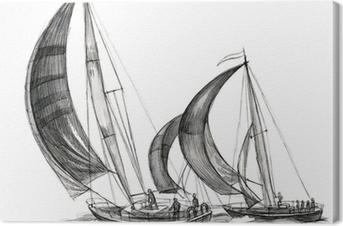 Havbåde Fotolærred