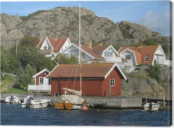 2371d2af Huse ved havet på Sveriges vestkyst Fotolærred • Pixers® - Vi lever for  forandringer