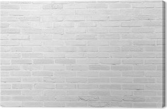 Hvid grunge murvæg tekstur baggrund Fotolærred