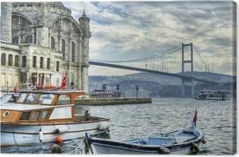 Hvor to kontinenter mødes: istanbul Fotolærred