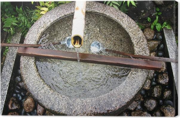 Japansk bambus vand springvand Fotolærred • Pixers® - Vi lever for ...