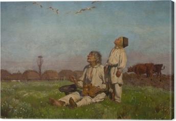 Józef Chełmoński - Leylekler Fotolærred