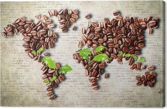 Kaffe rundt om i verden Fotolærred