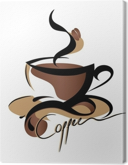 Kaffe tegn Fotolærred