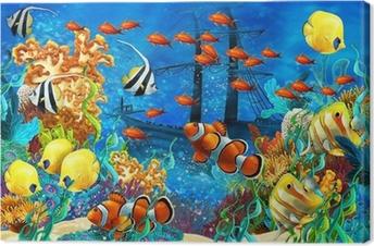 Koralrevet - illustration til børnene Fotolærred